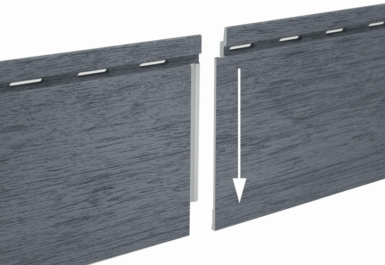 Rivestimento di facciata in schiuma di PVC, sistema di connessione